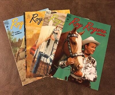 Lot: Vintage 1950's Roy Rogers Dell Comic Book Covers
