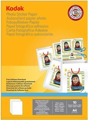 50 Sheet Gloss A4 Kodak Photo Sticker Paper! Turn your pictures into stickers!