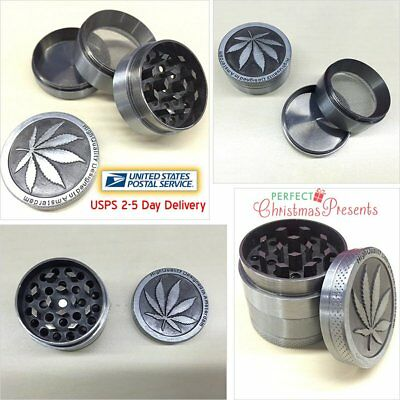 Tobacco Herb Spice Grinder 4Piece Herbal Alloy Smoke Metal Chromium Crusher Zinc