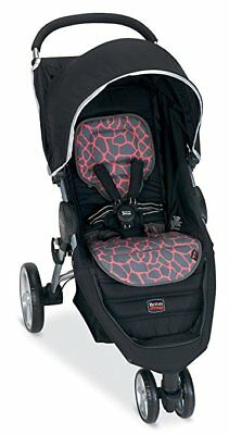 Britax B-Agile Stroller Fashion Kit Seat Cover In Pink Giraffe Brand New!!
