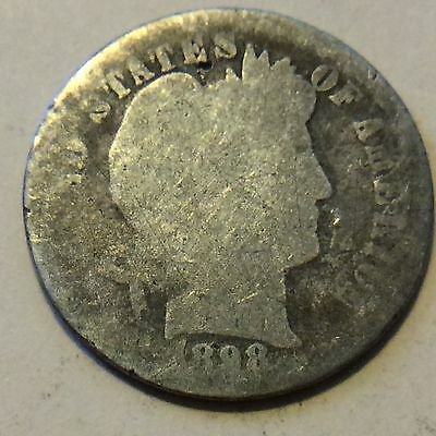 1898 Barber Dime G956 Free Shipping