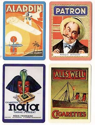 CIGARETTES/TOBACCO ADS #Dec4 ~  4 x MODERN WIDE Swap/Playing Cards