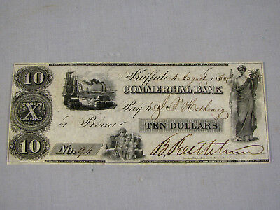 Commercial Bank Of Buffalo N.y. Obsolete $10 Bank Note