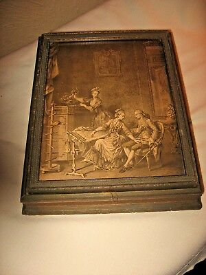 Vintage Antique Wood Victorian Art Deco? Jewelry Case Box Old Early Unique Nr
