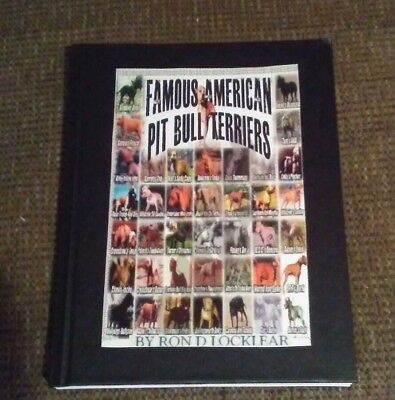 """""""Hardback Book Famous American Pit Bull Terriers"""" Free Gift with order!"""