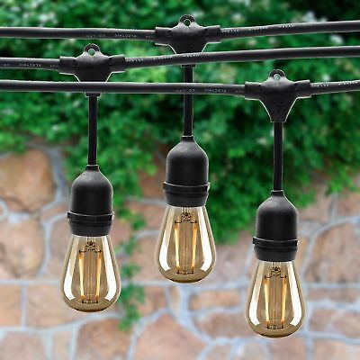 48FT LED Outdoor Waterproof Commercial Grade Patio Globe String Lights  Bulbs VIP