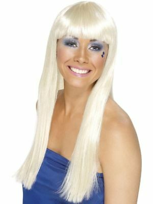 Smiffys Dancing Queen Wig, Blonde - Female - One Size
