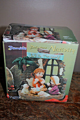 Vintage Dreamsicles Polystone Nativity Set  Joy to the World with box