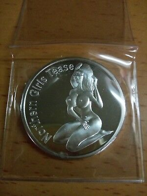 Heads or Tails Flip Coin Risque woman Flip Coins Tokens (silver plated) nude