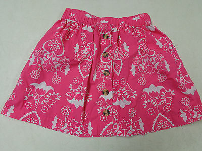Hanna Andersson Pretty Pink Floral Cotton Skirt  110  5   6