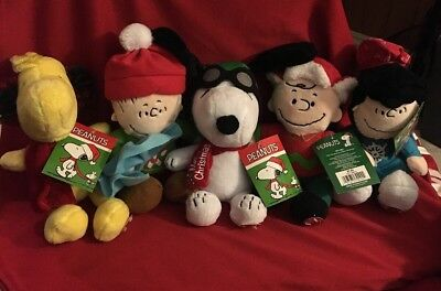 **Brand New**Peanuts Musical Plush Lot of 5 2016 Fast Shipping