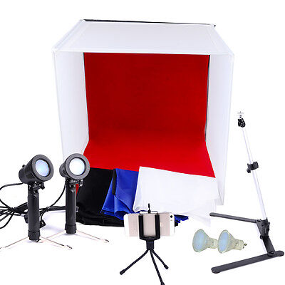 """24"""" 60cm Photography Cube Shooting Light Tent Studio Backdrop All in One Kit"""