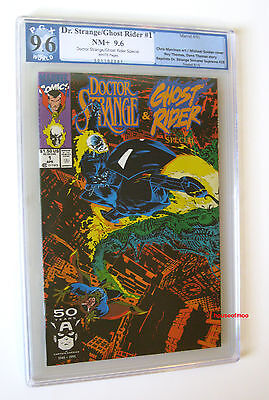 DOCTOR STRANGE / GHOST RIDER SPECIAL #1 PGX 9.6 NM+ not CGC 1991 (DR MOVIE) Look