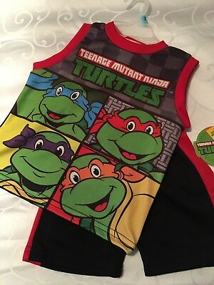 NEW Toddler Boys Teenage Mutant Ninja Turtles Shorts and Shirt Outfit Size 18M