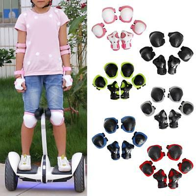 6 Pcs Kid Child Inline & Roller Skating Cycling Knee Wrist Elbow Guard Pad