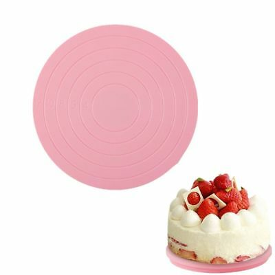 Cake Turntable Plastic Rotating Cake Stand Plate Baking Revolving Decor Stand