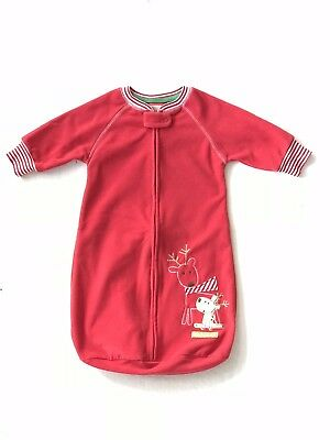 Carter s Red With Reindeer Sack Gown Sleeper Baby s 1st Christmas Size 0-9  Month 9ae44e196