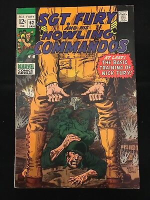 Sgt. Fury And His Howling Commandos #62 Fn- Marvel Comics Silver Age Nick Fury!