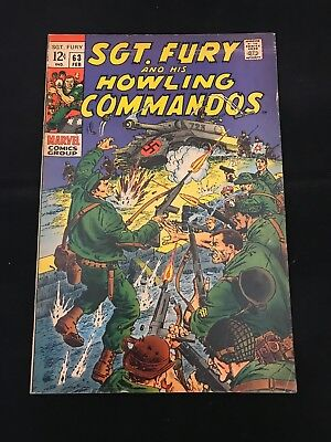 Sgt. Fury And His Howling Commandos #63 Vg+ Marvel Comics Silver Age Nick Fury!
