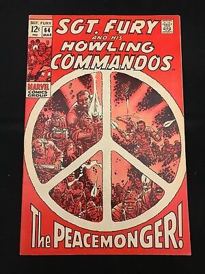 Sgt. Fury And His Howling Commandos #64 Fn Marvel Comics Silver Age Nick Fury!