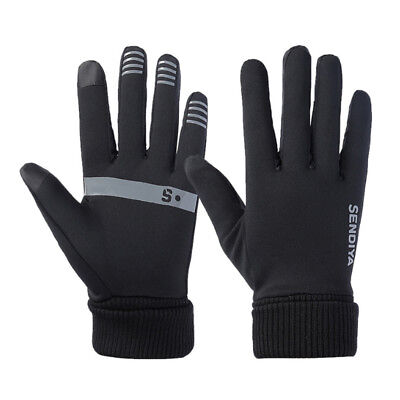 Mens Women Winter Gloves Touch Screen Full Finger Sport Running Driving Gloves