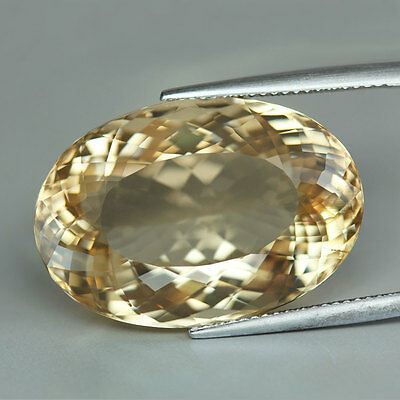 """32.98 cts""""Tanzania""""Oval Cut""""Peach Yellow"""" Tiny Natural Needle""""Scapolite"""" PR492"""