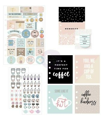 My Prima Planner Goodie Pack Coffee & Tea - Stickers Bookmark Pocket Inserts