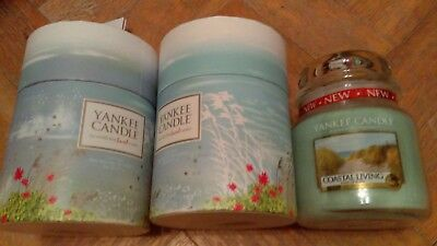 Yankee Candle 2x Coastal Living Medium Jar Gift Sets Brand new