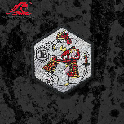 Stormtrooper TACTICAL Samurai Morale Patch Cute Elephant Embroidery Hexagon Be