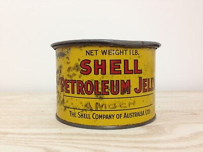 Shell Petroleum Jelly Tin - Vintage Collectable oil petrol Rare Early