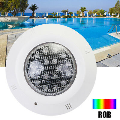 AC 12V 18W LED Swimming Pool Spa RGB Light Underwater 7 Colors IP68 Waterproof