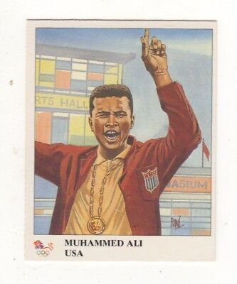 USA. Mohammed Ali Olympic boxing card