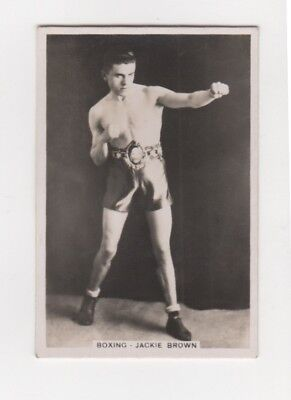 Boxing cigarette Card -Jackie Brown