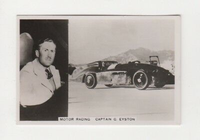 Motor Car Racing Card George  Eyston in Rolls Royce at Bournville Salt USA