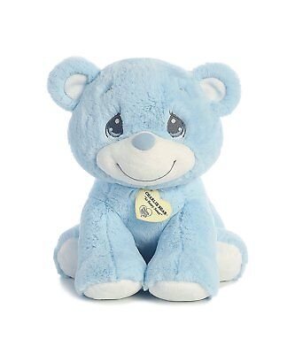 "Aurora Precious Moments 15 inch Charlie Bear ""So Beary Sweet"" Blue Teddy Bear"