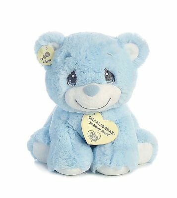 "Aurora Precious Moments 8.5 inch Charlie Bear ""So Beary Sweet"" Blue Teddy Bear"