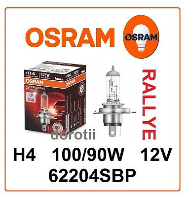H4 62204SBP SUPER BRIGHT premium OSRAM OFF-ROAD RALLYE 100/90W 12V Germany