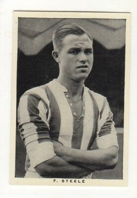 Wills Football Soccer Card. Fred Steele (Stoke City & England)