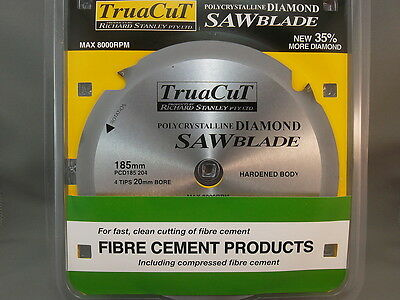 FIBRE CEMENT DiamondSAW BLADE-Cuts Hardie Prods-185mm