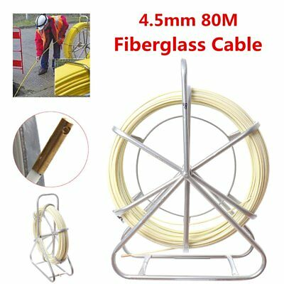 4.5mm*80m Fiberglass Wire Cable Rod Duct Puller Electric Fish Tape Running Lead