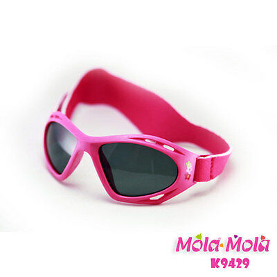 MOLA MOLA Polarized pink baby girl sunglasses with strap