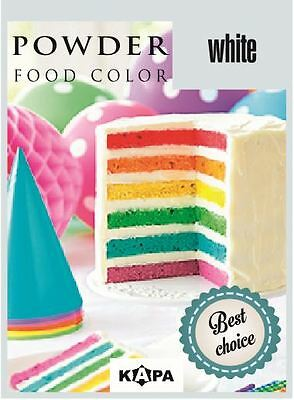 Coloring Food Powder WHITE. For Cake & Cupcake Decorating. Set Of 5 x 4g