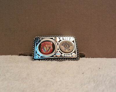 Vintage Smith and Wesson, Winchester 12 Gauge Belt Buckle RARE