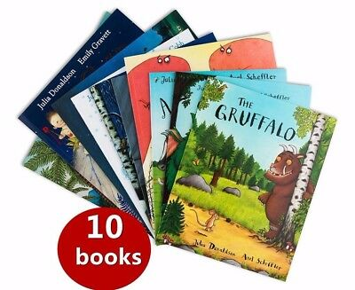 10 Books The Julia Donaldson Collection Books Set Amazing Stories Ziplock Pack
