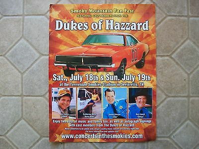 Dukes of Hazzard Smoky Mountain Fan Fest Advertisement