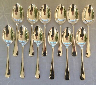 12 Vintage Silver Plated Dessert Spoons