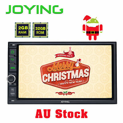 AU Stcok Double 2 Din 7'' Android 6.0 Head Unit 4G WIFI Bluetooth GPS Stereo USB
