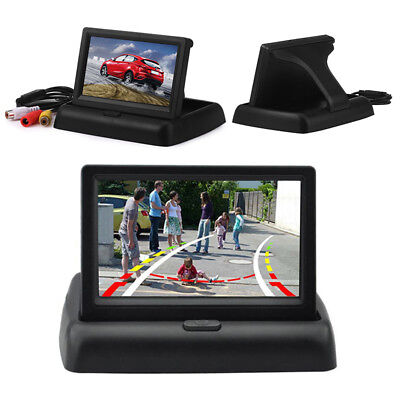 Car Monitors 4.3'' LCD Screen Display Rear View Monitor Video Player Foldable ZW