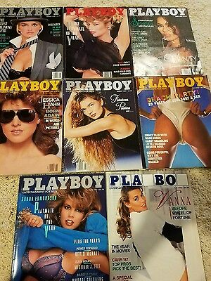 Lot of 8 Playboys 1987 and 1988