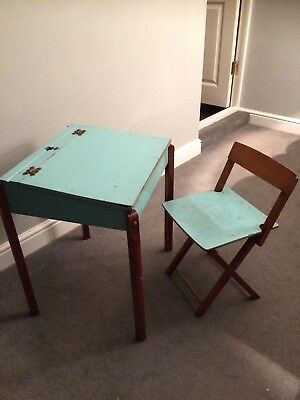 Mid Century 1950's Reno Series Childs' Vintage Desk & Folding Chair